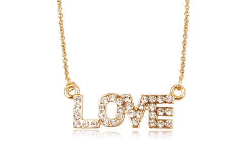 All You Need Is Love Necklace - www.sparklingjewellery.com