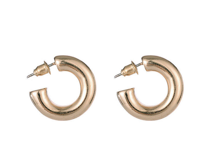 Chunky Gold Hoop Earrings - www.sparklingjewellery.com