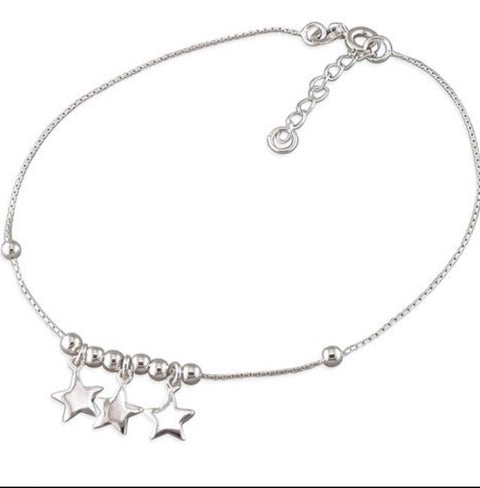Star Sterling Silver Anklet