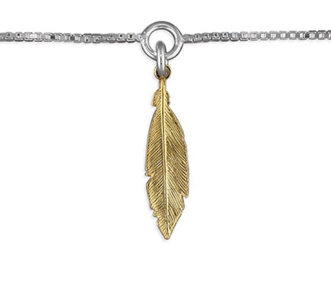 Feather from Heaven Ankle Chain Sterling Silver - www.sparklingjewellery.com