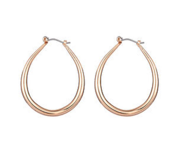 Gold Geometric Hoop Earrings - www.sparklingjewellery.com