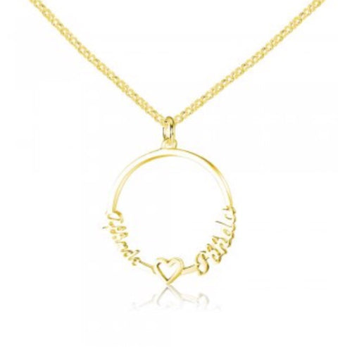 Karma Circle Name Necklace - www.sparklingjewellery.com