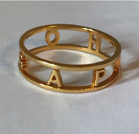 Name Ring Sterling Silver real Gold Vermeil