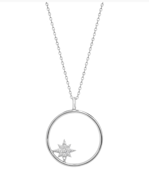Karma Star Sterling Silver Limited Edition Necklace - www.sparklingjewellery.com