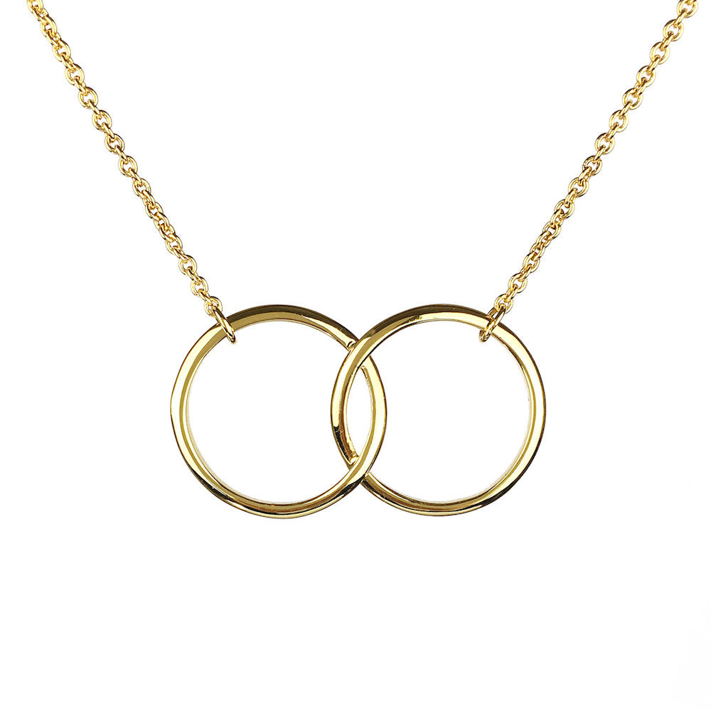Kismet Two Ring Necklace - www.sparklingjewellery.com