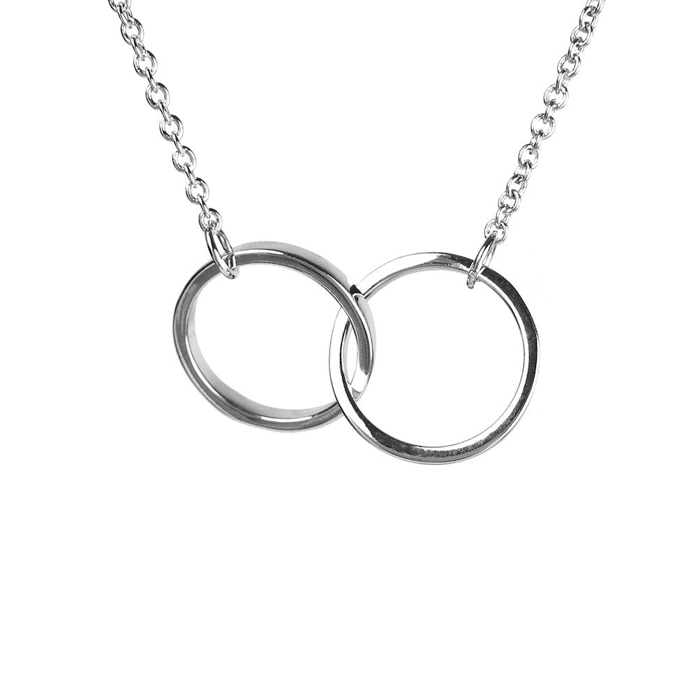 Kismet Karma Circle Link Necklace Silver