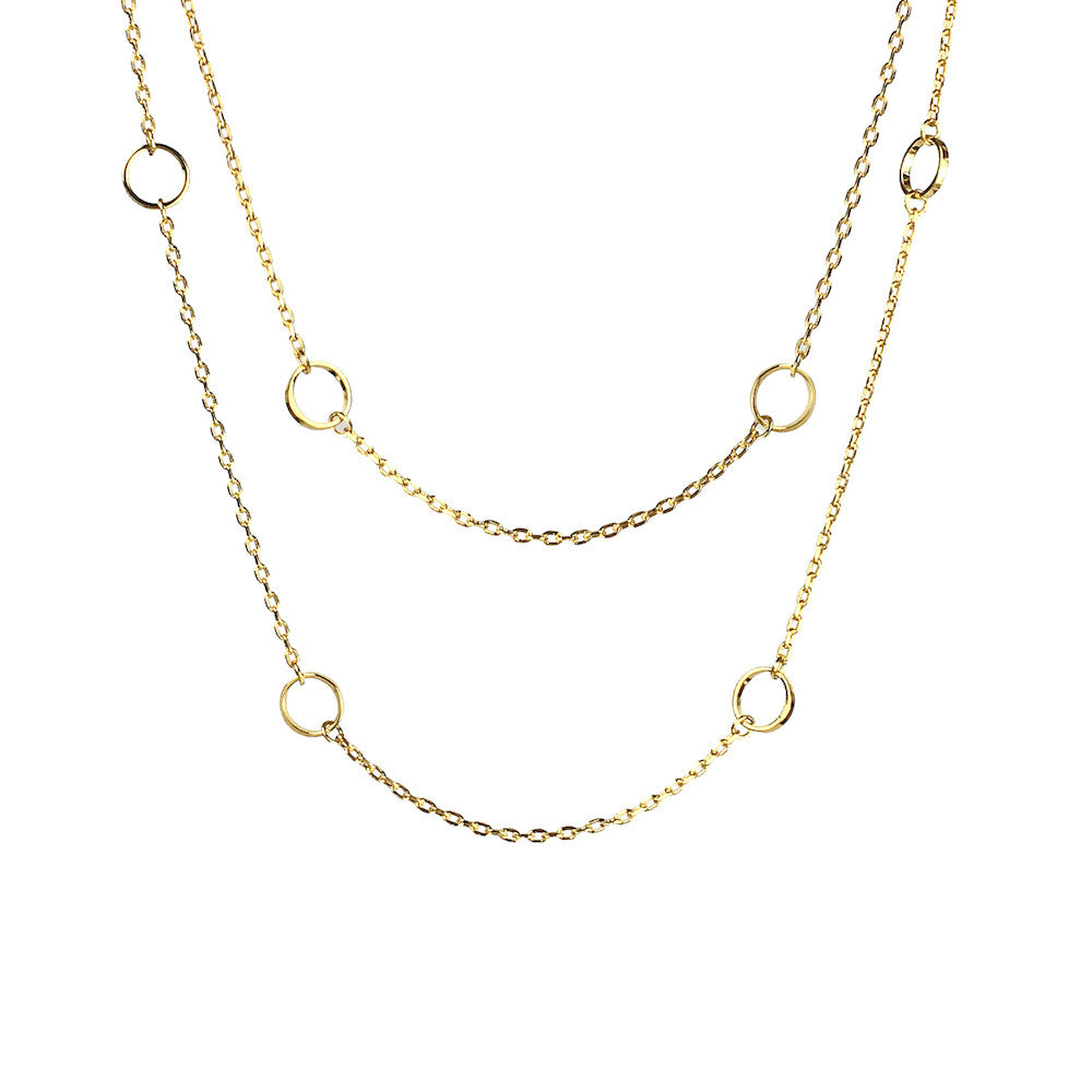 Kismet Circle Very Long Necklace - www.sparklingjewellery.com