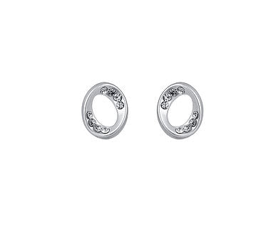 Matt Oval Stud Earrings - www.sparklingjewellery.com