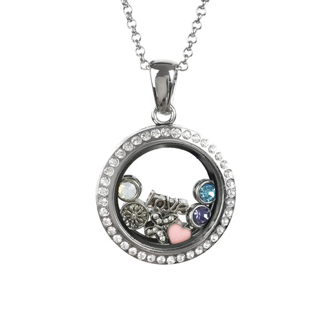 Large Memory Locket With 7 Charms