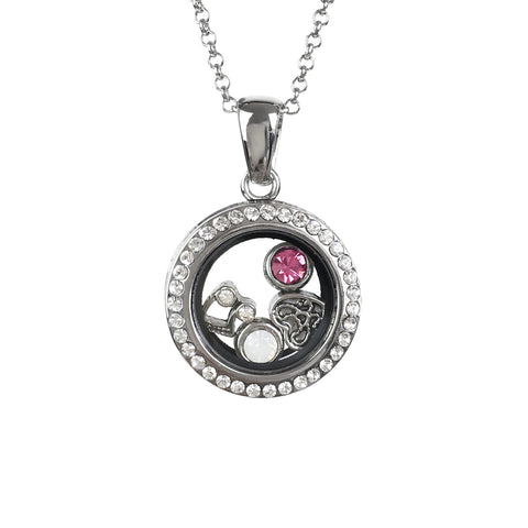 Small Memory Locket With 4 Charms
