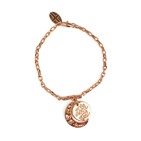 I Love You to the Moon & Back Bracelet - www.sparklingjewellery.com