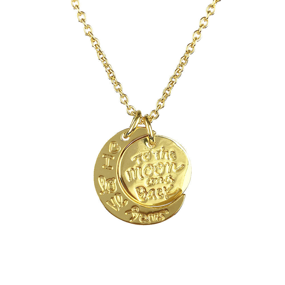 Love You to the Moon and Back Necklace - www.sparklingjewellery.com