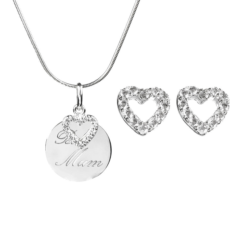 Mothers Day Sterling Silver Gift Set - www.sparklingjewellery.com
