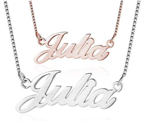 Personalised Name Necklace - www.sparklingjewellery.com