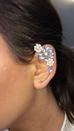 Ornate Crystal Ear Cuff