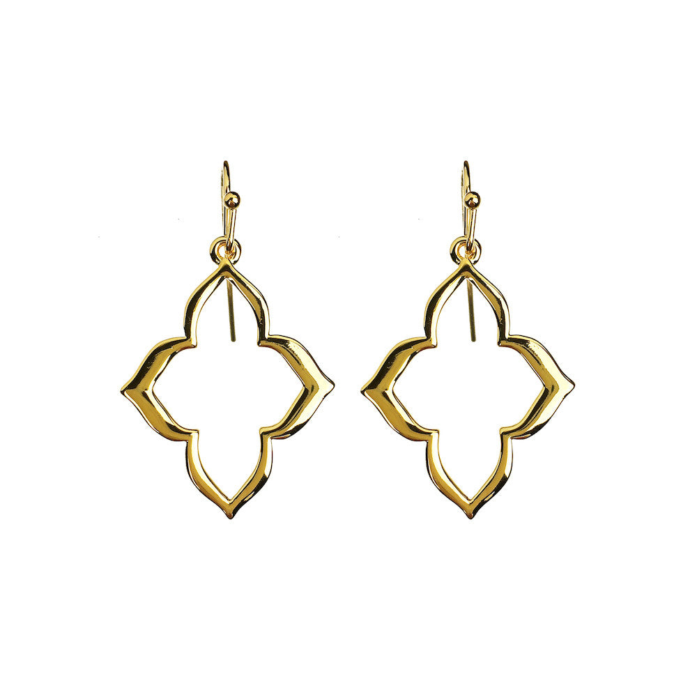 Persian Drop Dangle Earrings - www.sparklingjewellery.com