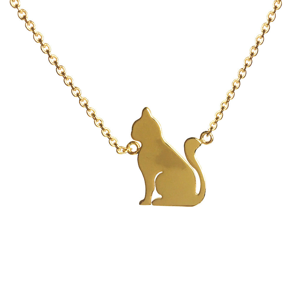 Cat Pendant Necklace - www.sparklingjewellery.com