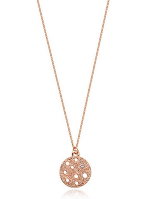 Silver or Rose Gold Circle Pendant - www.sparklingjewellery.com
