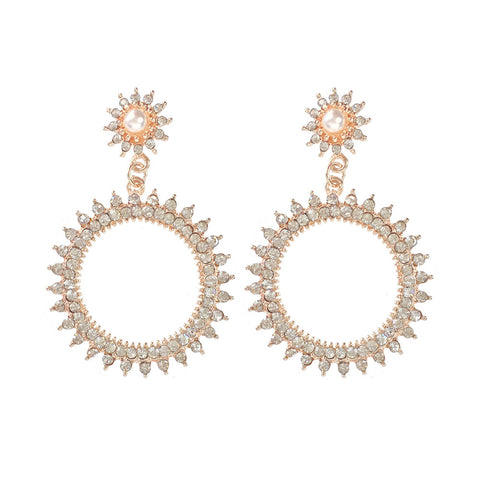 Inidian Summer Pearl and Crystal Earrings - www.sparklingjewellery.com