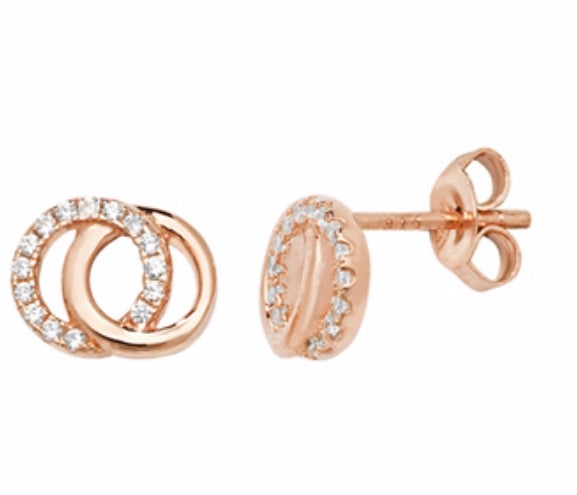 Rose Gold Karma Earrings Limited Edition - www.sparklingjewellery.com
