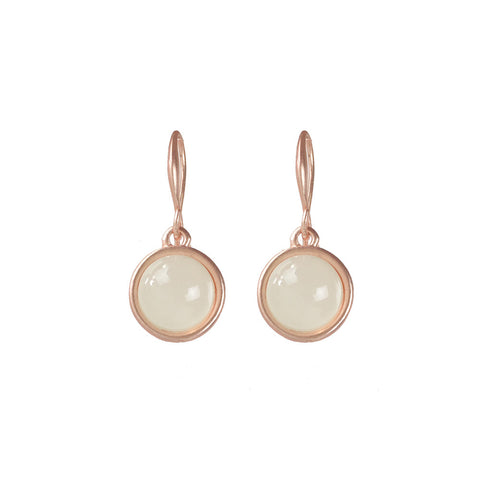 Rose Gold Moon Stone Earring