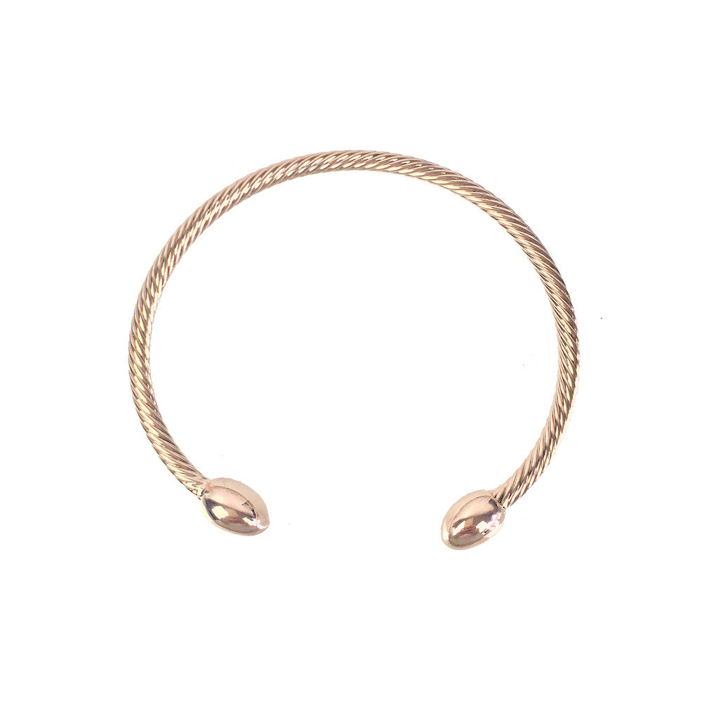 Twisted Torque Bangle - www.sparklingjewellery.com