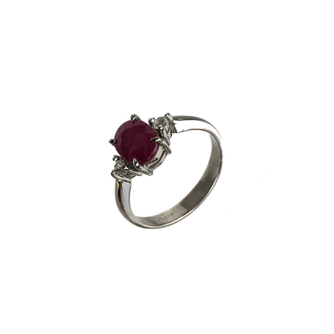 Ruby White Topaz Ring