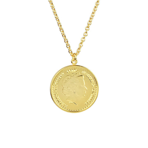 Single Grand Coin Necklace - www.sparklingjewellery.com