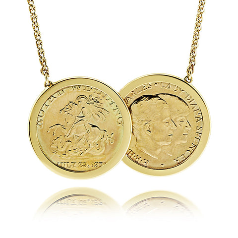 Two Coin 9ct Gold Necklace Limited Edition