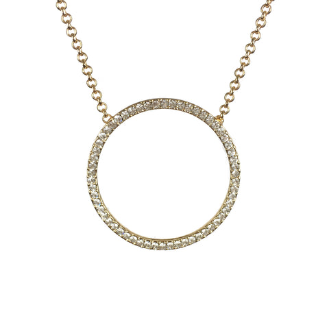 Sparkly Circle Choker Necklace