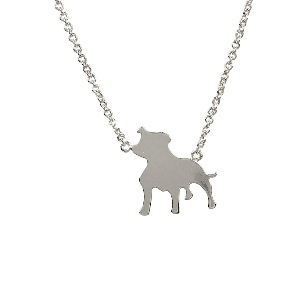 Staffordshire Bull Terrier Dog Necklace - www.sparklingjewellery.com