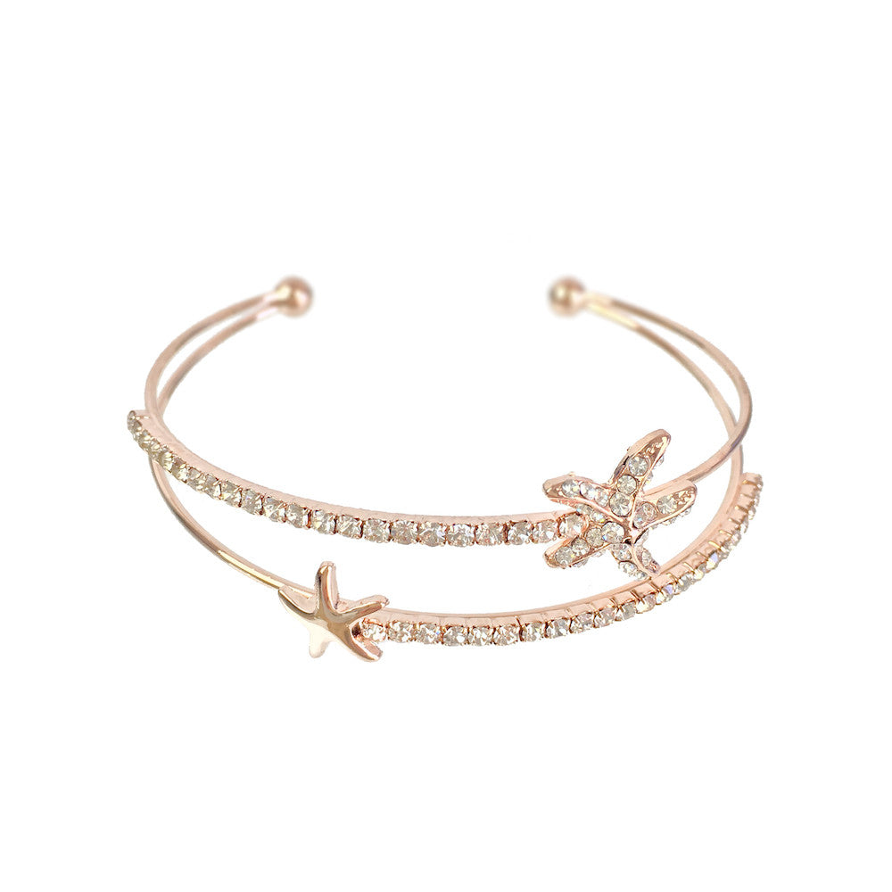 Star Fish Rose Gold Bangle