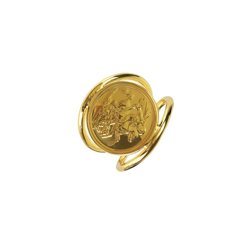 Two Band Coin Ring