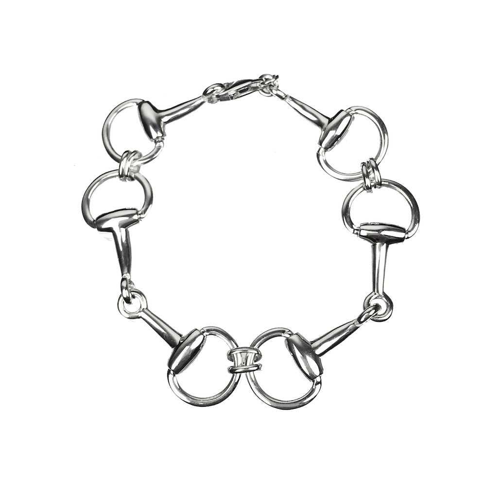 Valegro Large Stirrup Bracelet 925 Sterling Silver