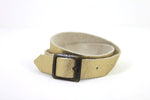 Leather straps metallic gold