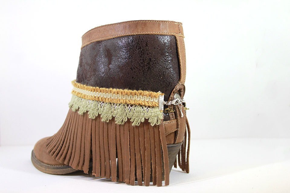 Leather Fringes Brown