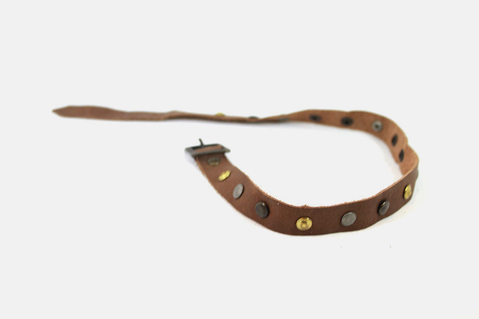 Leather straps Brown with studs