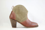 Boot High Heel Brown/Olive