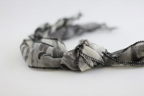Boho Ribbons Grey