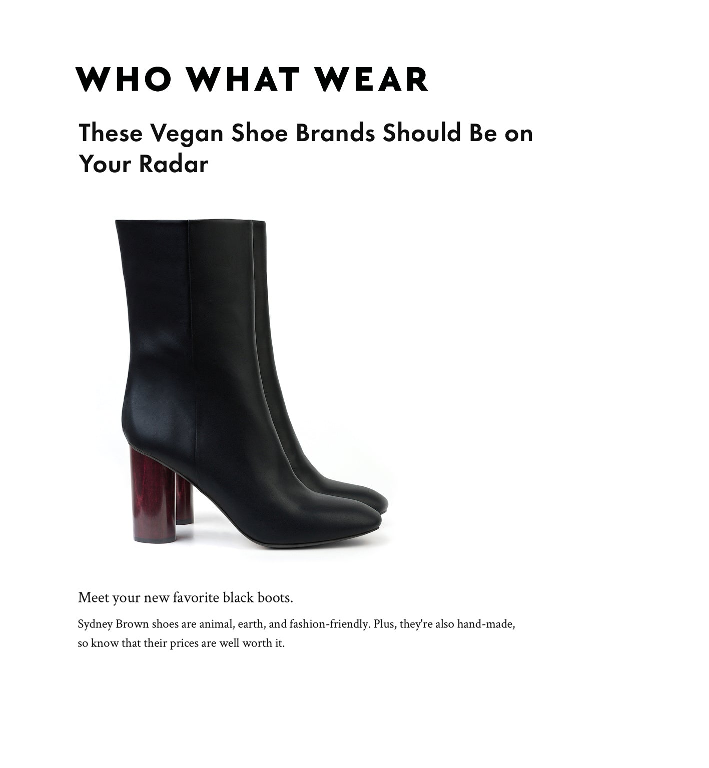 Vegan shoe Brands that should be on your radar. Sydney Brown on WHO WHAT WEAR