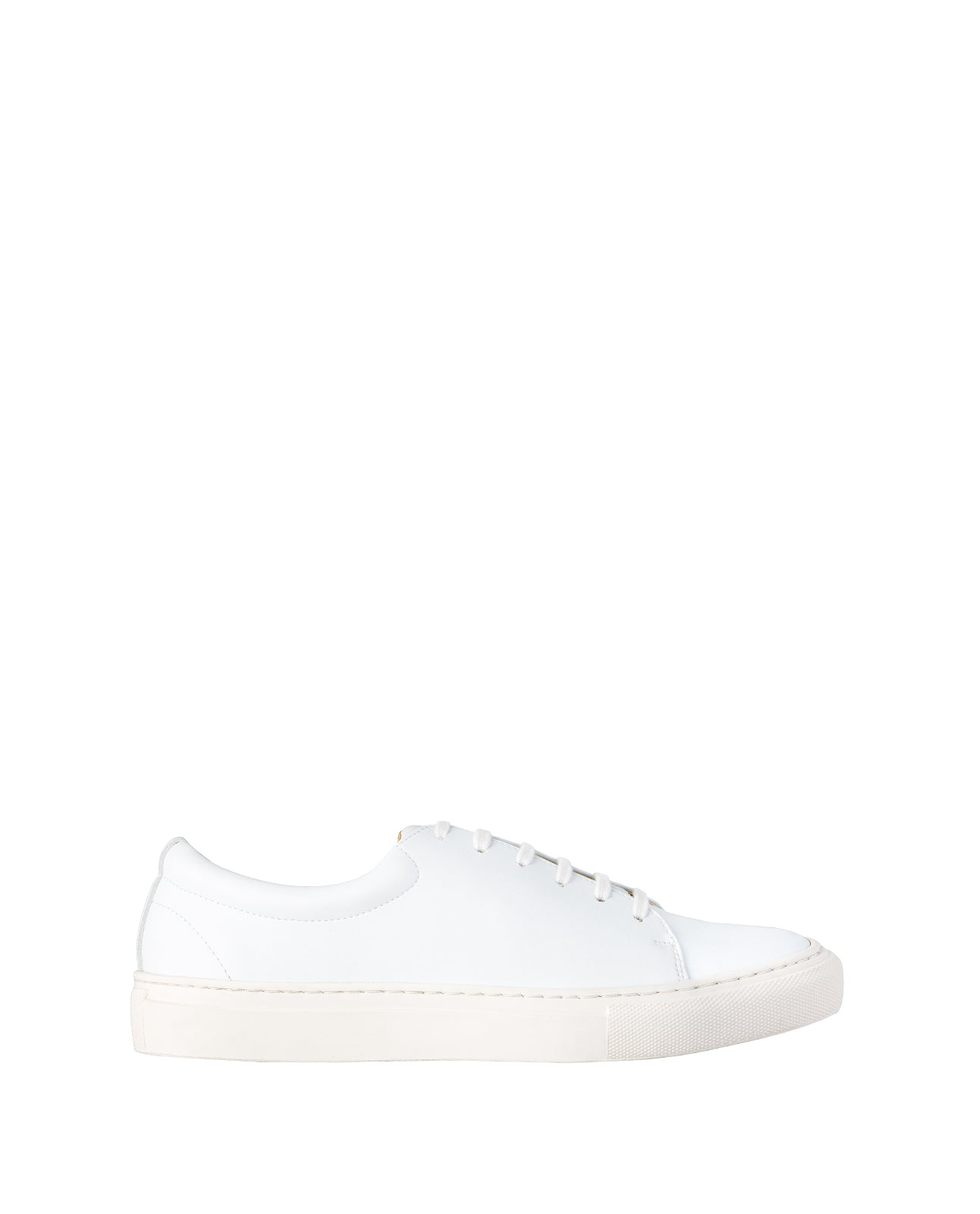 Sydney Brown Vegan, Animal-Free, Non-Leather, Ethical Classic Low Top Sneakers in White Faux-Nappa, Eco-Friendly, Unisex Style