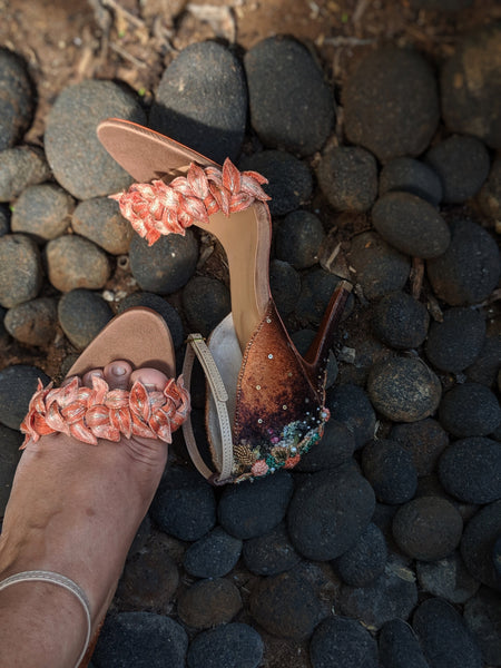 Tan Fallen Leaves Stiletto