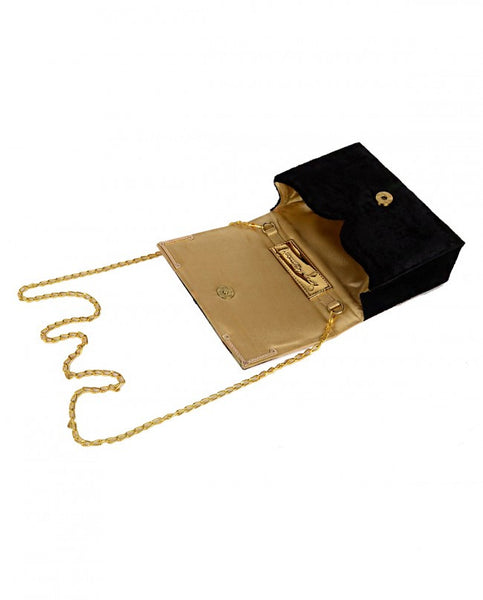 Black & Gold Parta Clutch