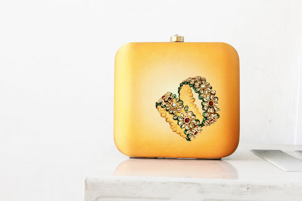 Yellow Kangan Clutch