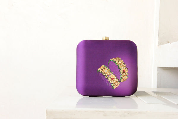 Purple Kangan Clutch