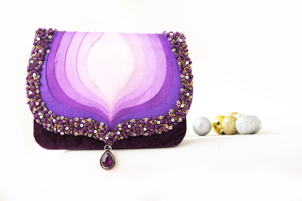 Purple Taj Clutch