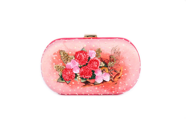 Pink Neverland owl clutch