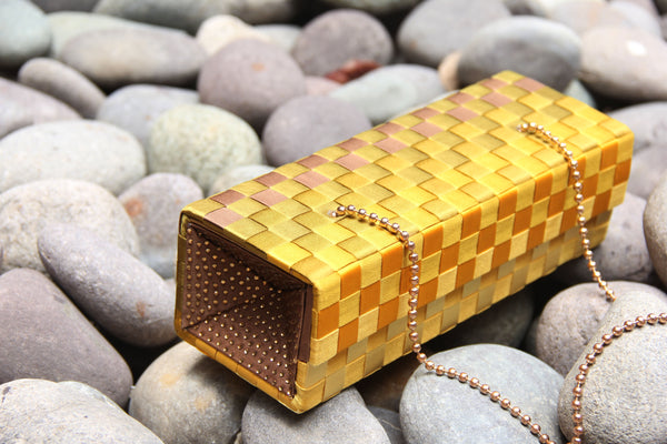 Gold Brown Metamorphosis Clutch