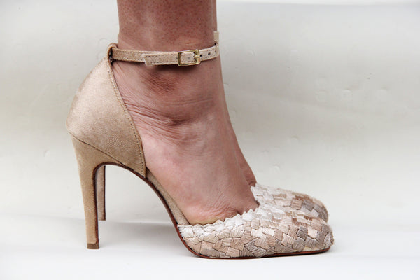 Beige Cascade Stiletto