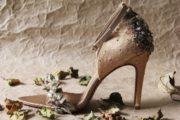 Gold Fallen Leaves Stiletto